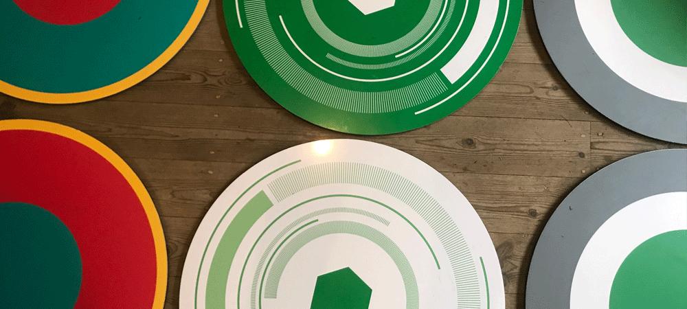 Dribbling-Platten